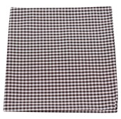 POCKET SQUARES - PETITE GINGHAM - BROWN