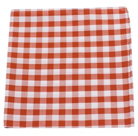 Burnt Orange Cotton Table Plaid pocket square