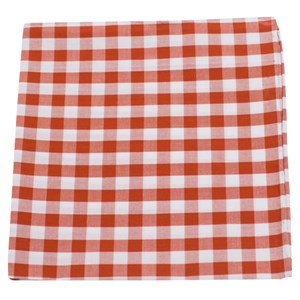 cotton table plaid burnt orange pocket square
