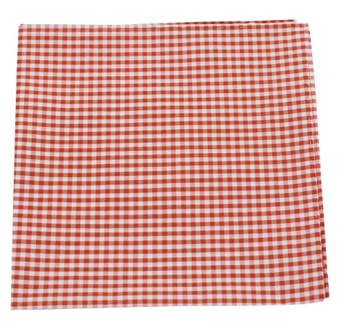 Petite Gingham Burnt Orange Pocket Square