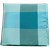 Select Turquoise Bison Plaid Pocket Square Selected