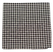 Pocket Squares - FALL GINGHAM - BLACK