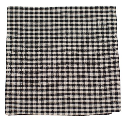 Black Fall Gingham Pocket Square