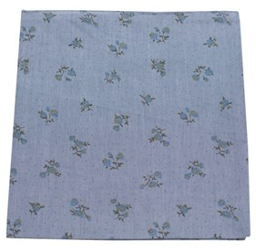 Soft Blue Calico Chambray pocket square