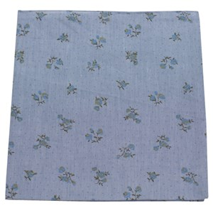 calico chambray soft blue pocket square
