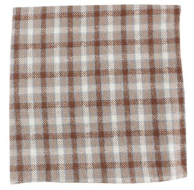 Taupe Champion Plaid pocket square