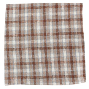 champion plaid taupe pocket square