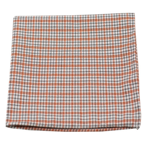 Orange Rambling Plaid pocket square
