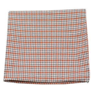 rambling plaid orange pocket square