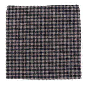 Charcoal Metric Plaid pocket square