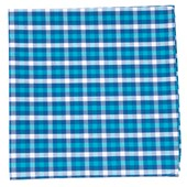 POCKET SQUARES - SOUND PLAID - TURQUOISE