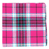 Pocket Squares - VICE PLAID - Fuchsia