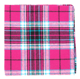 Fuchsia Vice Plaid pocket square