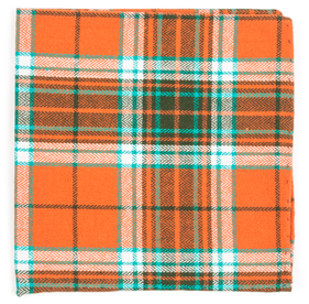 Orange Vice Plaid pocket square