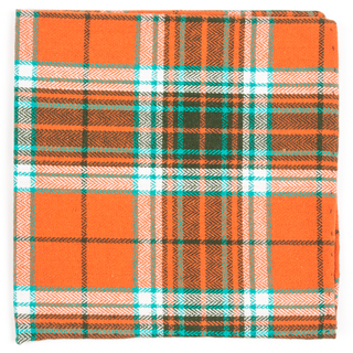 vice plaid orange pocket square