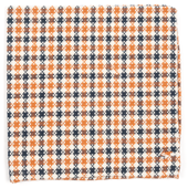 Pocket Squares - CANOE CHECKS - Rust