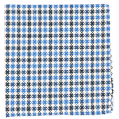 Pocket Squares - CANOE CHECKS - BLUE
