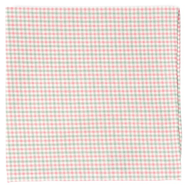 Pink Gulf Shore Gingham Pocket Square
