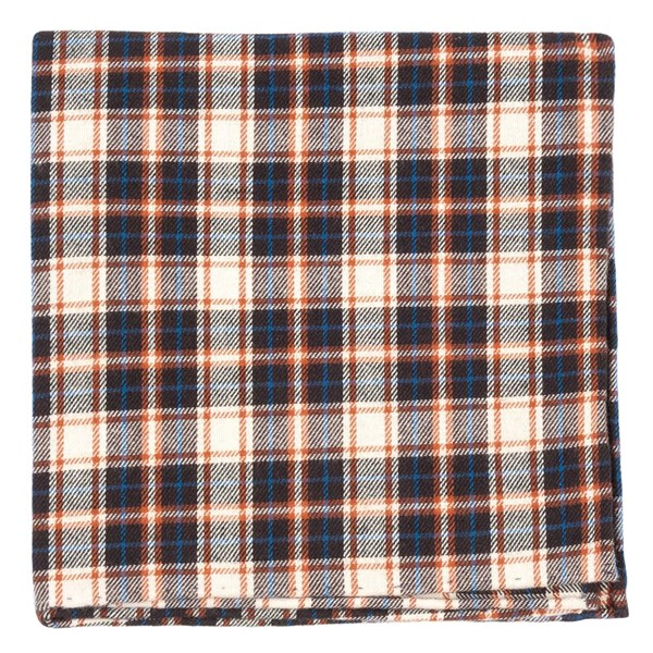 Brown Central Park Plaid Pocket Square