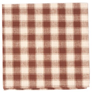 port street checks chocolate brown pocket square