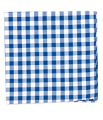 POCKET SQUARES - CLASSIC GINGHAM - ROYAL BLUE