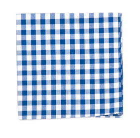 Royal Blue Classic Gingham pocket square
