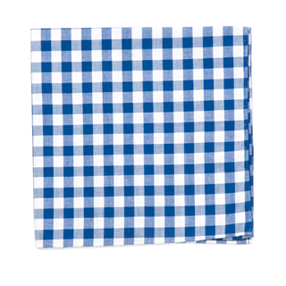 classic gingham royal blue pocket square