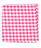 POCKET SQUARES - CLASSIC GINGHAM - HOT PINK