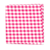 Select Hot Pink Classic Gingham Pocket Square Selected