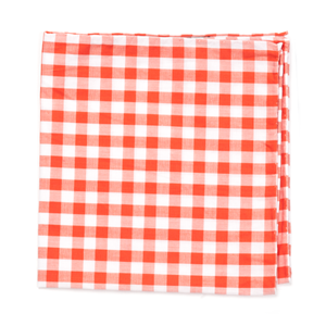 classic gingham orange pocket square