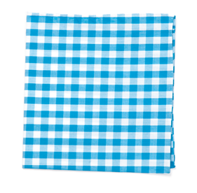 Turquoise Classic Gingham pocket square