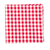 Select Red Classic Gingham Pocket Square Selected