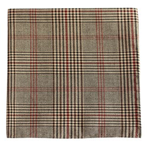central glen plaid brown pocket square