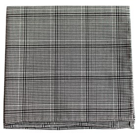 Black Central Glen Plaid pocket square