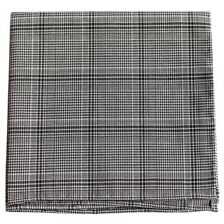 Central Glen Plaid Black Pocket Square