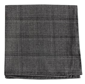 Charcoal Central Glen Plaid pocket square