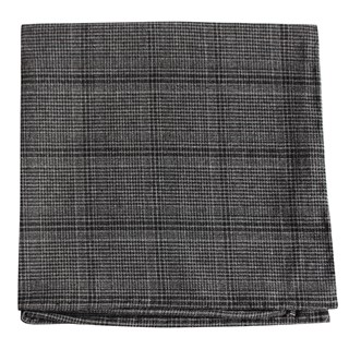central glen plaid charcoal pocket square