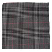 Pocket Squares - AGENT PLAID - CHARCOAL