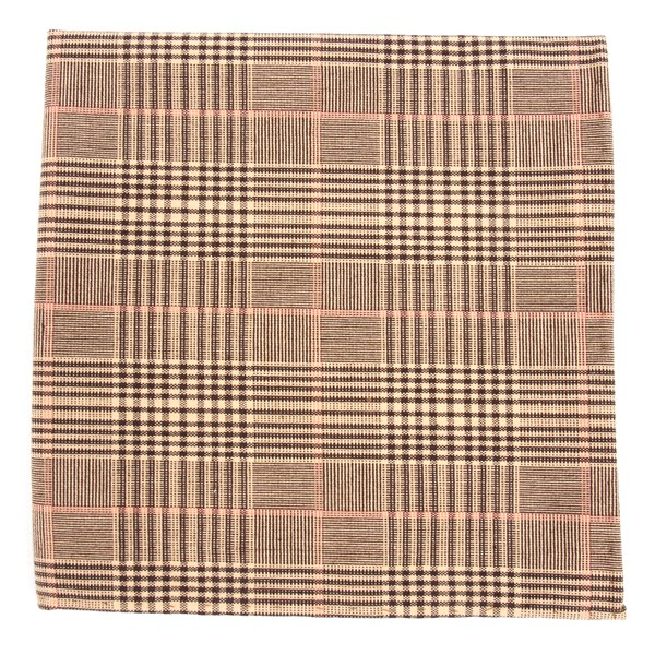 Browns Agent Plaid Pocket Square