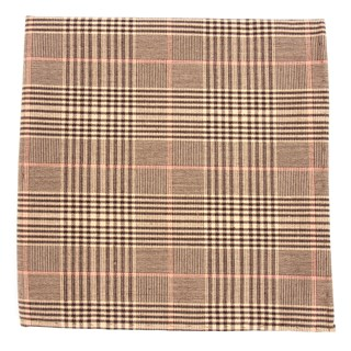 Agent Plaid Browns Pocket Square