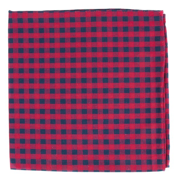 Apple Red Gingham Shade Pocket Square