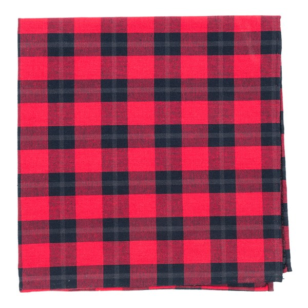 Red Streetwise Check Pocket Square