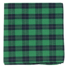 Green Streetwise Check pocket square