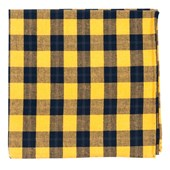 Pocket Squares - STREETWISE CHECK - YELLOW