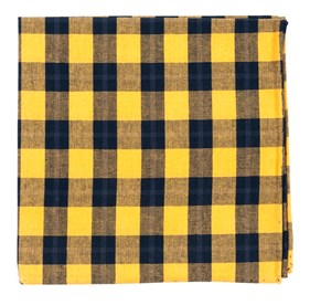 Streetwise Check Yellow pocket square