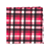 Red Acoustic Check Pocket Square