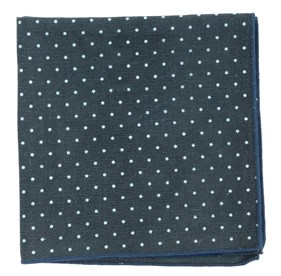 Black Corduroy Dots pocket square