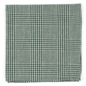 greiz glen plaid green pocket square