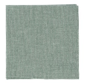 Small Saxony Check Green pocket square