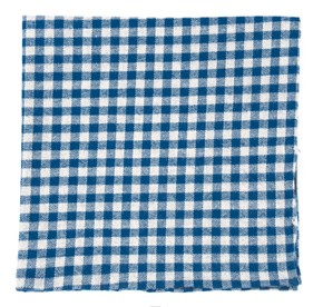 Royal Blue Stein Checks pocket square